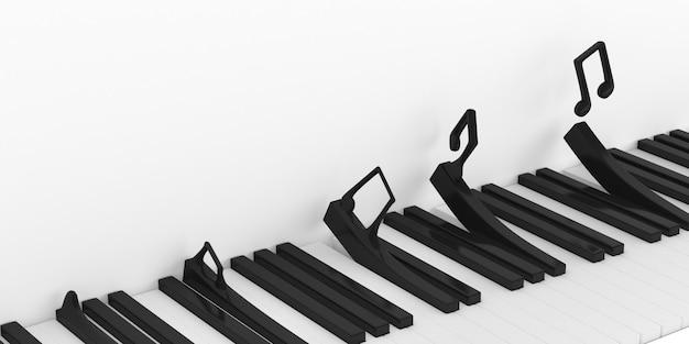 Minimaal illustreren van pianotoetsenbord