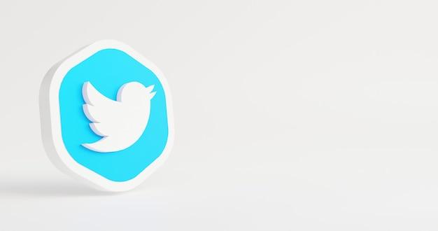 Minimaal logo op witte achtergrond 3d-rendering