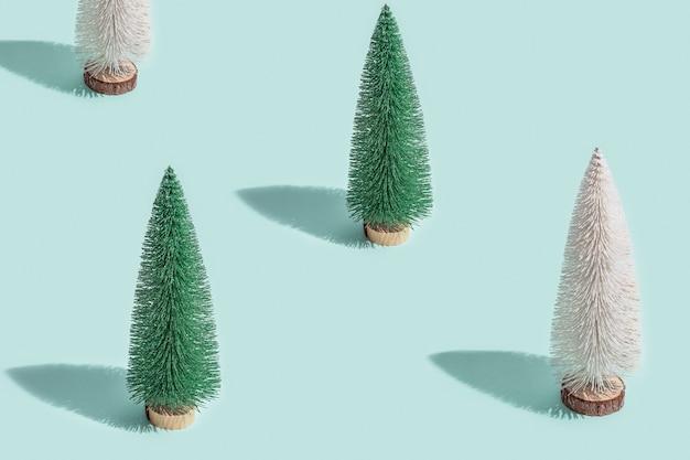 Minimaal patroon met kerstbomen