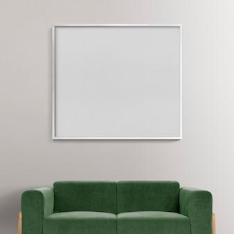 Minimaal woonkamerinterieur met leeg frame