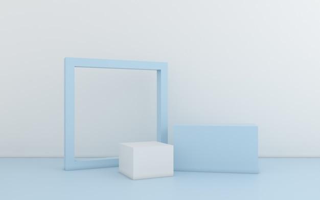 Minimale abstracte geometrisch. 3d-rendering