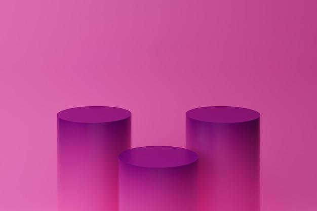 Minimale achtergrond, mock-up met podium voor productvertoning, abstracte witte meetkundevorm