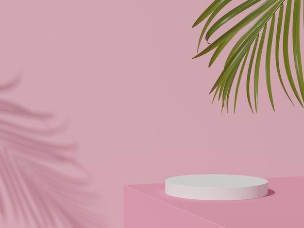 Minimale achtergrond mock-up scène met podium voor productweergave 3d-rendering