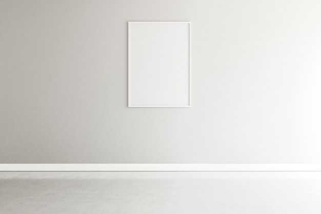 Minimale kamer met een elegant frame-interieur
