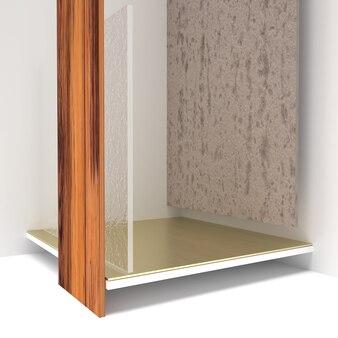 Minimale luxescène met geometrische vormen in 3d-rendering premium