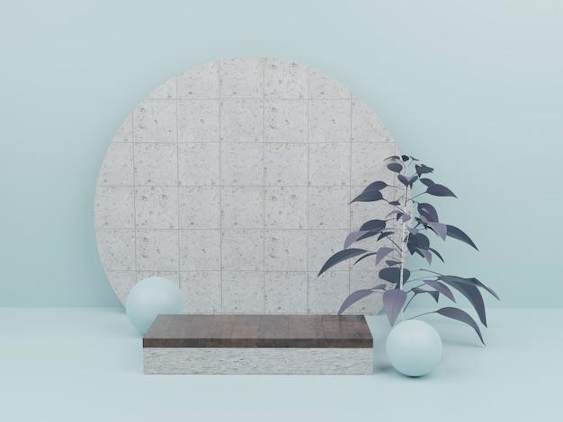 Minimale moderne mockup hout geometrisch