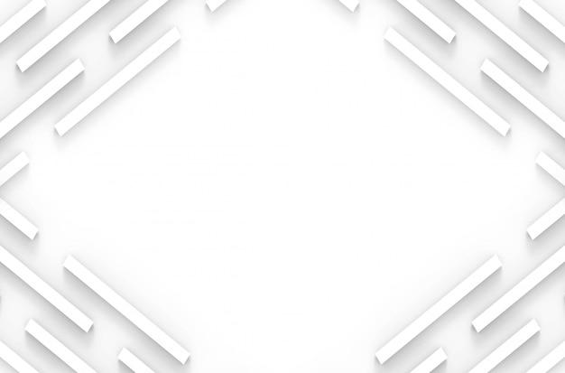 Minimale moderne witte paneel bar stapel muur en vloer op grijze achtergrond.
