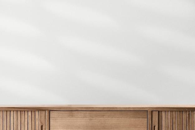 Minimale productachtergrond met houten kast