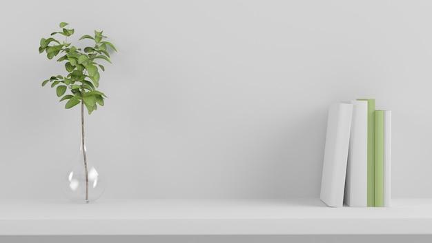 Minimale productpresentatie plank 3d-rendering