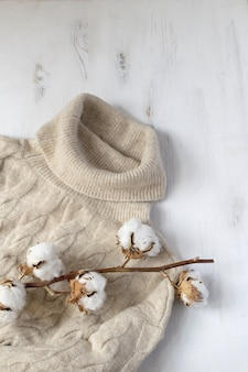 Minimale scandinavische winter plat lag