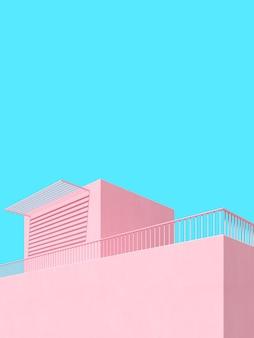 Minimale scène van abstracte architecturale achtergrond.