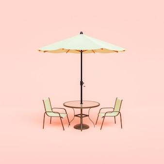 Minimale scène van terrastafel