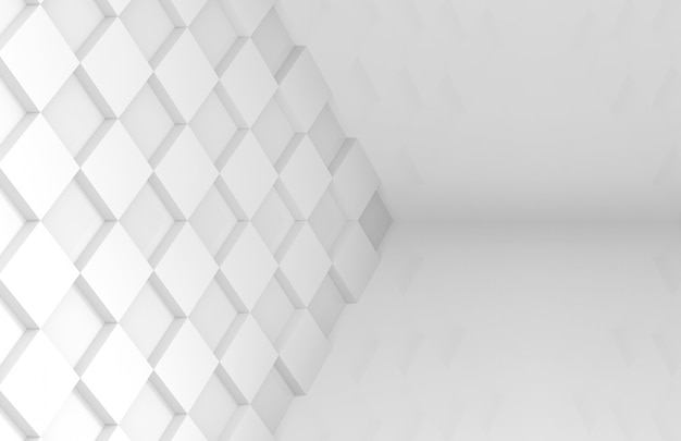 Minimale stijl witte vierkante raster tegel kunst muur