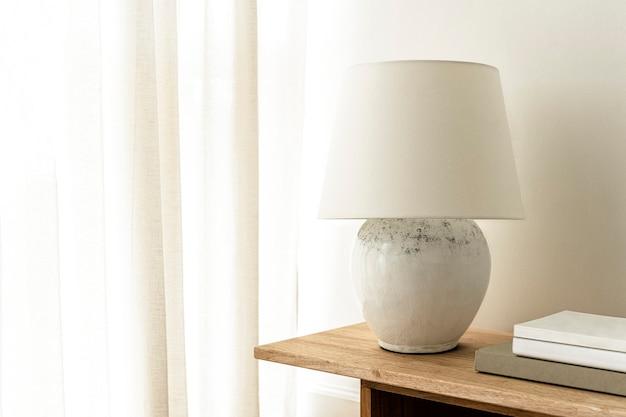 Minimale witte woonkamer, esthetisch ontwerp