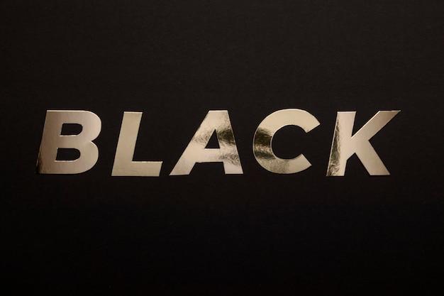 Minimalistisch pastel gouden zwart woord concept