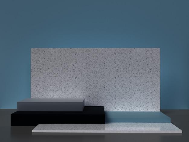 Minimalistische 3d-rendering abstracte geometrische vorm.