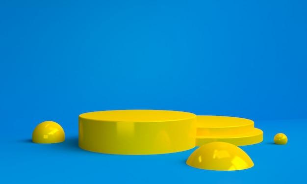Minimalistische abstracte achtergrond met geometrisch geel cijfer