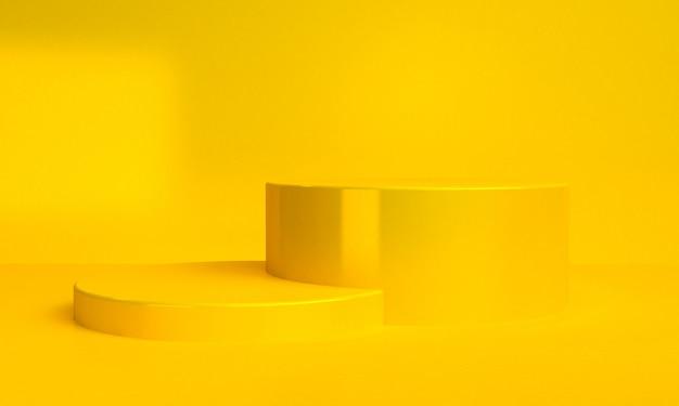 Minimalistische abstracte achtergrond, primitieve geometrische figuren, pastel kleuren, 3d render.