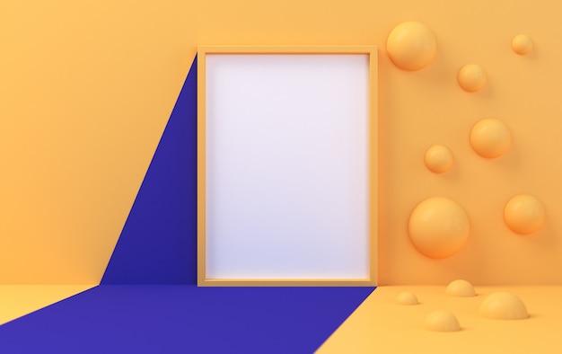 Minimalistische abstracte achtergrond, primitieve geometrische figuren, pastelkleuren, 3d render, podium voor de geadverteerde goederen