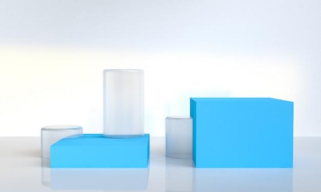 Minimalistische abstracte geometrische figuren achtergrond