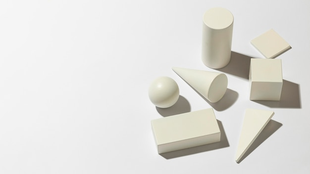 Minimalistische geometrische vormen met kopie ruimte