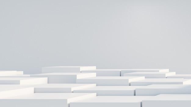 Minimalistische geometrische vormen met kopieerruimte