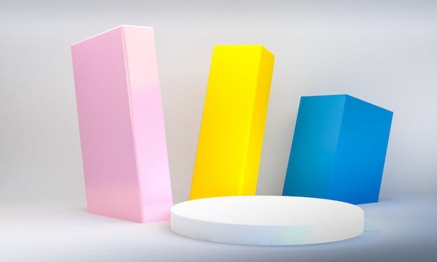 Minimalistische geometrische vormscène