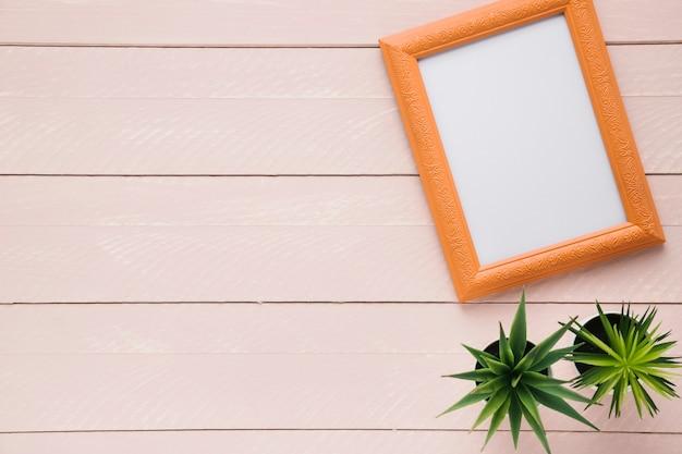 Minimalistische rangschikking van frames met kopie ruimte