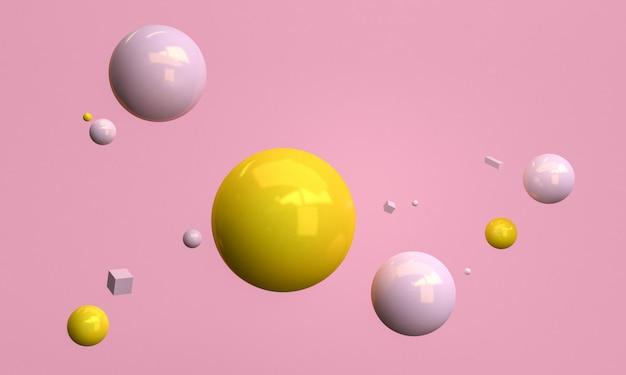 Minimalistische roze abstracte vormscène