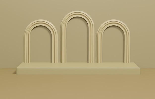Minimalistische scènecompositie voor productpresentatie