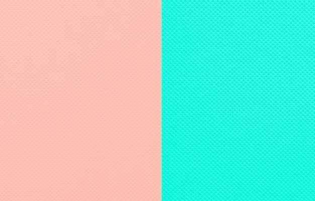 Minimalistische tweekleurige schone mint en perzik kleur achtergrond.