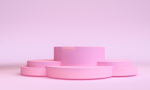 Minimalistt geometrische vormscène minimale, 3d-weergave.