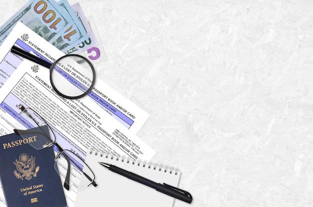 Ministerie van buitenlandse zaken formulier ds64 verklaring betreffende een verloren of gestolen amerikaans paspoortboek