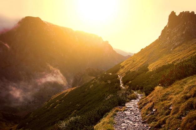 Mist in de bergen.