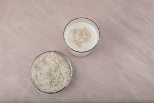 Misugaru latte of misutgaru. gezonde koreaanse meergranen shake.