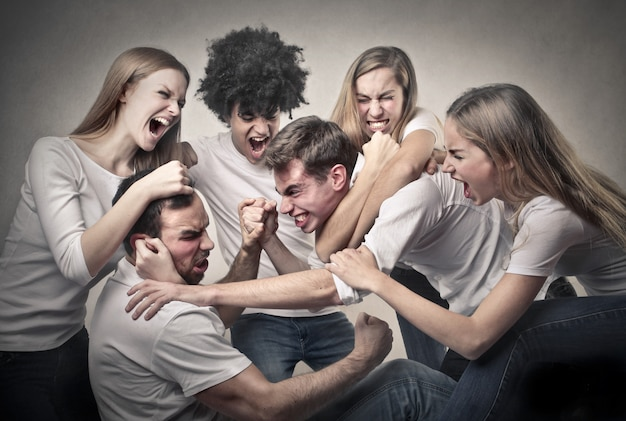 Misverstand in een groep vrienden