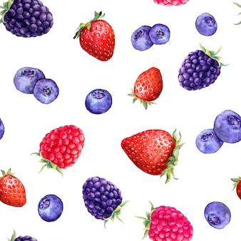 Mix van bessen framboos, aardbei, braam, bosbes