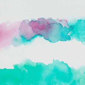 Mix van blauwe en rode waterverf