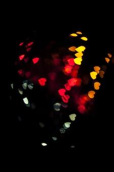 Mix van kleurrijke harten