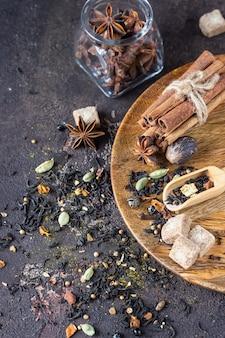 Mix van kruiden voor indiase masala chai