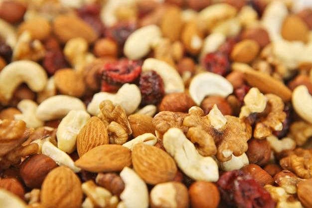Mix van vele soorten amandelen en noten