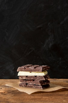 Mix van verschillende chocoladerepen