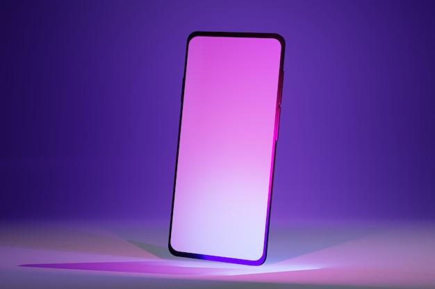 Mobiel isometrisch ontwerp met een leeg scherm. mock up van moderne mobiele telefoon illustratie