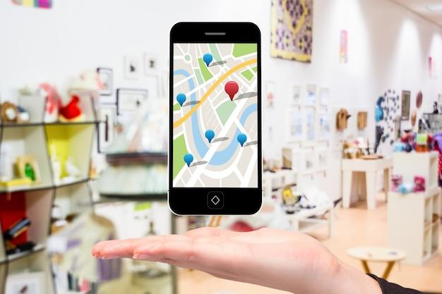 Mobiel met google maps