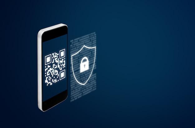 Mobiel verificatiesysteem en qr-code scanning beveiligingstechnologie