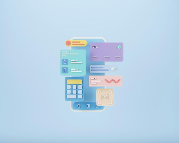 Mobiele app-ontwikkeling en mobiel webontwerpconcept