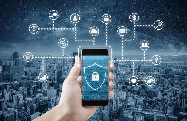 Mobiele applicatie en internet online beveiligingssysteem