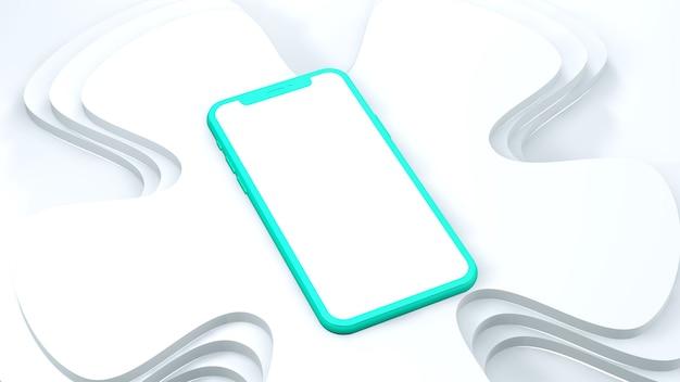 Mobiele telefoon met leeg scherm geïsoleerd