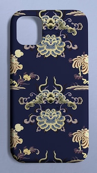 Mobiele telefoonhoes chinees patroon achteraanzicht product showcase