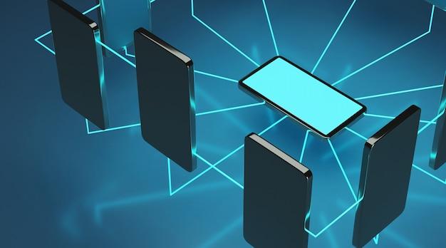 Mobiele telefoonverbinding.
